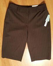 APT 9 WOMENS BROWN STRETCH CAPRI DRESS SHORTS CAPRIS PANTS SZ 4