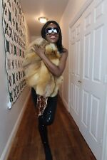 Stylish Designer Platinum Furs gold red fox fur Coat jacket bolero S-M 0-8