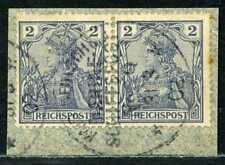 Kiautschou Briefstück DR 53 (2)  MSP 50   1902