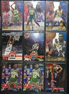 Shawn Kemp 9 Pack of Cards - Various Upper Deck, Skybox, Flair USA Basketball