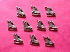 Tibetan silver Patins à Glace / Patinage sur glace charme 10 Par Pack