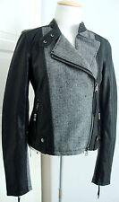 REPLAY Damen Lederjacke Jacke Leather Jacket Bikerjacke Gr.S NEU mit ETIKETT