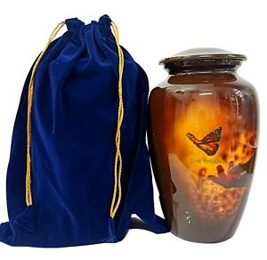 Adult Cremation Urn for Human Ashes Love Butterfly Red Urn Pet Urns Funeral Urns