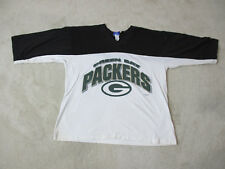 VINTAGE Green Bay Packers Shirt Adult Large White Black NFL Football Mens 90s