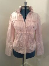 NEW CHICOS Women's $119 Ruched trench Coat Jacket Size 1 Medium Pink