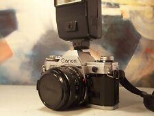canon AE1 avec objectif 50mm plus flash canon