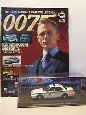 James Bond 007 Car Collection No 100 Ford Crown Victoria with magazine Y0043