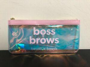 """x10 Benefit Cosmetics """"Boss + Brows"""" Skincare Makeup Plastic Makeup Bag"""