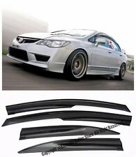 For 06-11 Civic Sedan Side Window Visors Mugen 2 Style Rain Guard Deflectors JDM