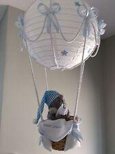 Hot Air Balloon La Lámpara/Luz Sombra. con Tatty Oso Dulces Sueños Azul