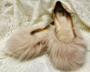 UGG Women's size 7 Fluff Mamma House Shoes Slippers Soft Pink Dyed Lamb Fur EUC