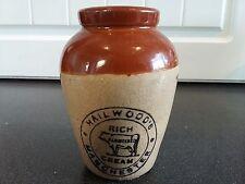 Victorian 19th Century Hailwood's Cream Pot Manchester England c1860 Advertising