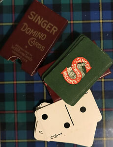Vintage Domino Playing Cards Singer Sewing Machines Boxed USA American Made Game