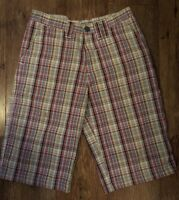 CHECK LONG SHORTS S MEN'S QUIKSILVER SUMMER SPORT GOLF FOOTBALL GYM TOWIE