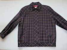 """Pitlochry Dark Blue Check Wool Jacket Size 14/16, Bust 50"""" NWT"""