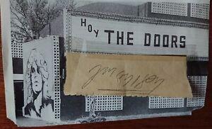 THE DOORS AUTOGRAPHS: JIM MORRISON, MANZAREK, KRIEGER, DENSMORE