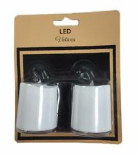 Flameless Pack of 2 LED  Votives Candles Plastic White Battery Powered