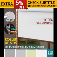 MODERN 100% BLOCKOUT ROLLER BLINDS CURTAIN FULL SHADING