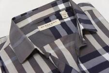 BURBERRY LONDON NELSON GRAY CHECK SPORT SLIM-FIT MEN'S SHIRTS M $325