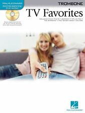 """""""TV FAVORITES"""" INSTRUMENTAL PLAY-ALONG FOR """"TROMBONE"""" MUSIC BOOK/CD-NEW ON SALE!"""