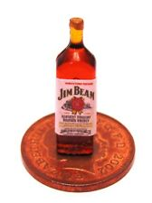 1:12 Scale Jim Beam Whiskey Label On A Bottle Tumdee Dolls House Accessory