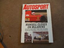 Autosport 20 July 1989 British GP New Zealand Rally Porsche 944 S2 GpA F3