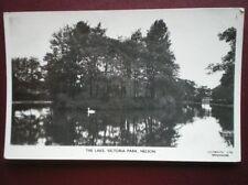 POSTCARD RP LANCASHIRE NELSON - THE LAKE VICTORIA PARK