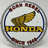 VINTAGE HONDA MOTORCYCLES PORCELAIN SIGN HARLEY DAVIDSON INDIAN