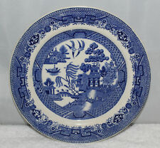 "Gater Hall & Co, Burslem - Ye Old Willow - 8"" dessert plate - c1910"