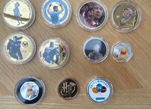 Token Coin Bundle - Marvel Disney Harry Porter Arsenal Man City Roald Dahl X 11