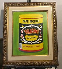 Cafe Yaucono Pop Art Framed Art Work Oil On Canvas 16X24 Original Art