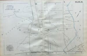 ORIGINAL 1882 RIDLEY DELAWARE COUNTY PENNSYLVANIA NORWOOD STATION ATLAS MAP