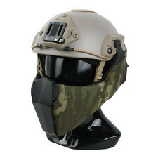 Mandible Tactical Guide Rail Connection Half Face Mask MTP for OC Highcut Helmet