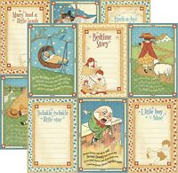 Graphic 45 Mother Goose Collection 12 x 12 Little Boy Blue Cardstock