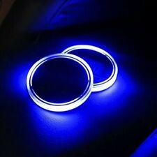 1pc Solar Cup Pad Car Accessories LED Light Interior Cover Decoration Light US