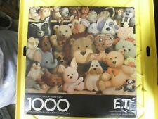1000 pc Jigsaw Puzzle, E.T. & Stuffed Animal Friends, Springbok dtd. 1982