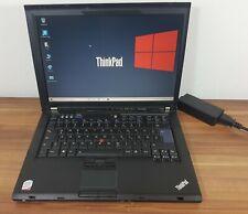 Win 10 Business Lenovo Thinkpad T400 Intel 2x2,53GHz 500GB 3GB Gigabit Lan Wlan