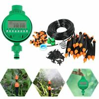 25M Auto Outdoor Garden Misting Cooling System & Plastic Mist Nozzle Sprinkler