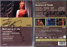 2.DVD Edita GRUBEROVA & Michael VOLLE Signiert BELLINI: BEATRICE DI TENDA VIOTTI