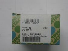 0818085 UC-TM6 NEW Phoenix contact terminal block marker labels box of 10 cards