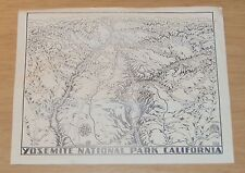 "RARE Della Hoss ART Map~""YOSEMITE NATIONAL PARK""~"