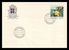Iceland 1981 FDC, Painting. Hauling the Line. Lot # 4.