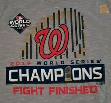 Washington Nationals 2019 WORLD SERIES CHAMPIONS FIGHT FINISHED T-Shirt! New!