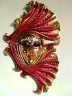 Odalisca - Maschera veneziana artigianale in ceramica e cuoio