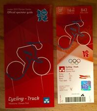 LONDON 2012 TICKET TRACK CYCLING HOY & TROTT 7AUG PLUS SPECTATOR GUIDE *MINT