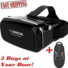 Deruicent SHINECON 3D VR Virtual Reality Headset for iPhone or Android Up to 6""