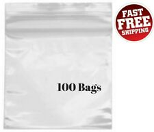 Small Resealable Ziplock Bags Jewelry 2x2 Clear Plastic 2 Mil Zip Poly Mini 100