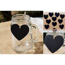 Heart Blackboards x 10 Wedding Lolly Buffet Small Hanging Chalkboard