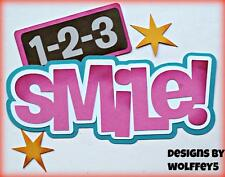 CRAFTECAFE SMILE KID TITLE paper piecing premade scrapbook page diecut WOLFFEY5