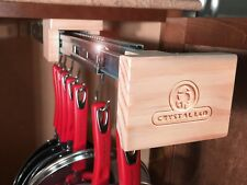 Pull Out Kitchen Cabinet Organizer for Pots, Pans and Lids -CRYSTAL L&D-